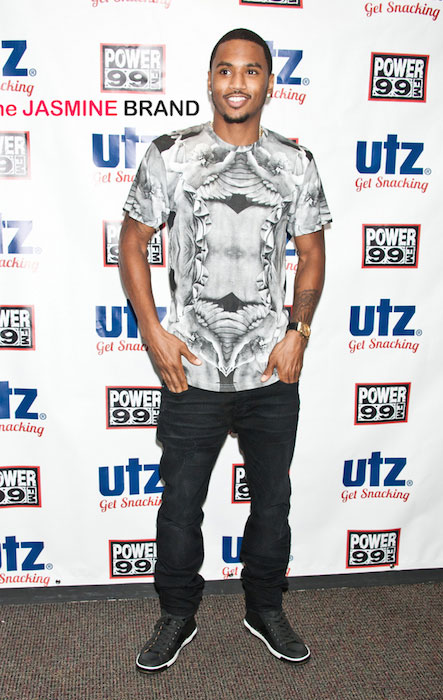 Trey Songz visits Power 99's Performance Theatre in Bala Cynwyd on July 07, 2014.