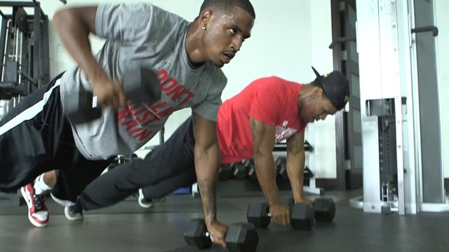Trey Songz workout