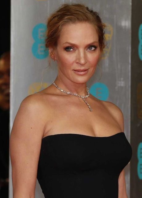 Uma Thurman at 2014 BAFTA Awards in London.