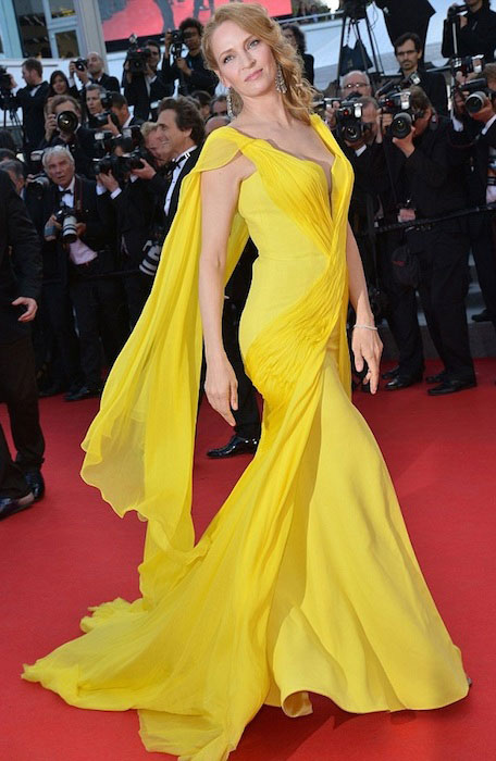 Uma Thurman during 67th Cannes Film Festival.