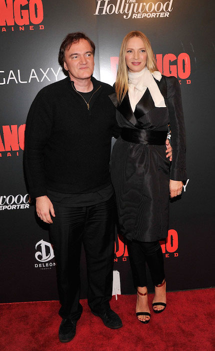 "Uma Thurman and Quentin Tarantino during ""Django Unchained"" New York Premiere."