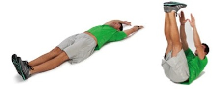 V-ups / jackknife sit-up