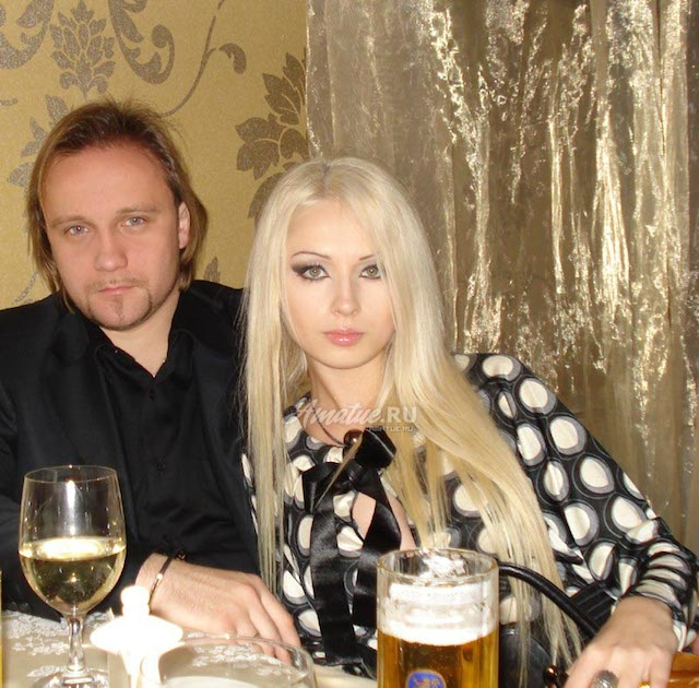 Valeria Lukyanova and Dmitry Shkrabov.