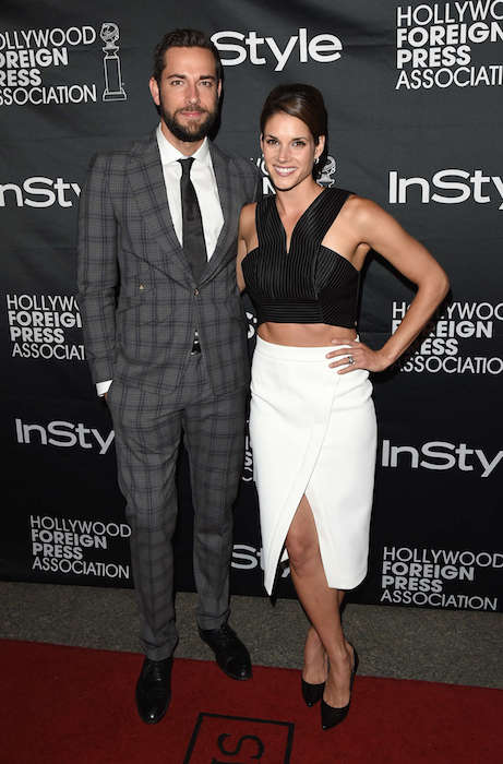 Zachary Levi and Missy Peregrym attends HFPA & InStyle's 2014 TIFF celebration during the 2014 Toronto International Film Festival.