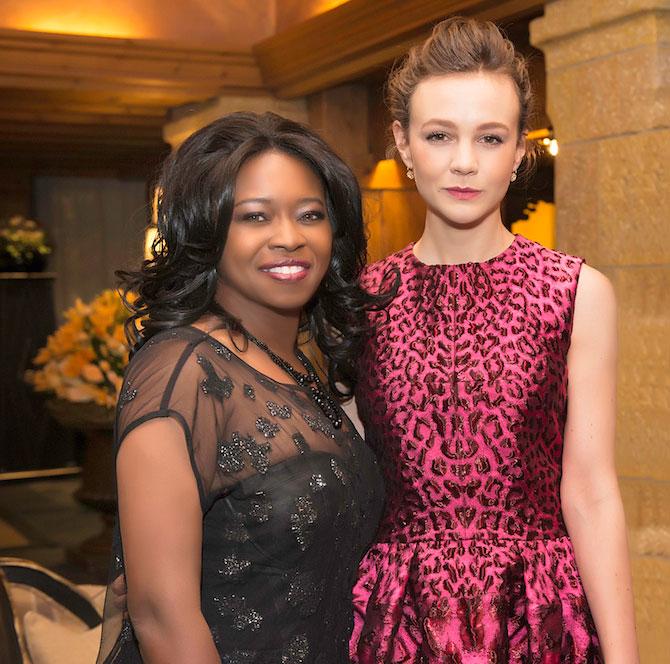 Actresses Taylor Re Lynn and Carey Mulligan.