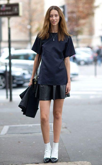 Alana Zimmer during Spring 2014 Paris Fashion Week.