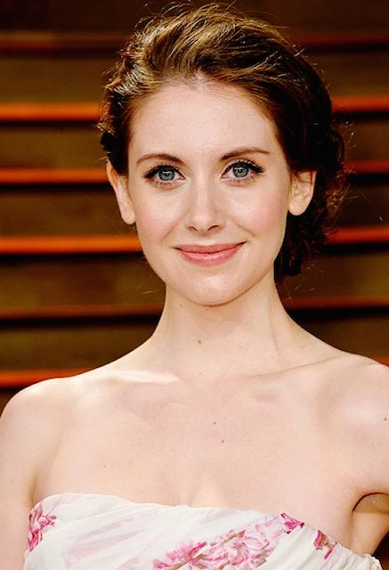 Alison Brie at 2014 Vanity Fair Oscars Party.