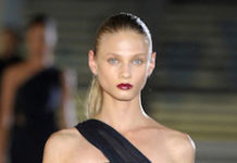 Anna Selezneva during Anthony Vaccarello Spring / Summer 2012 Fashion Show.