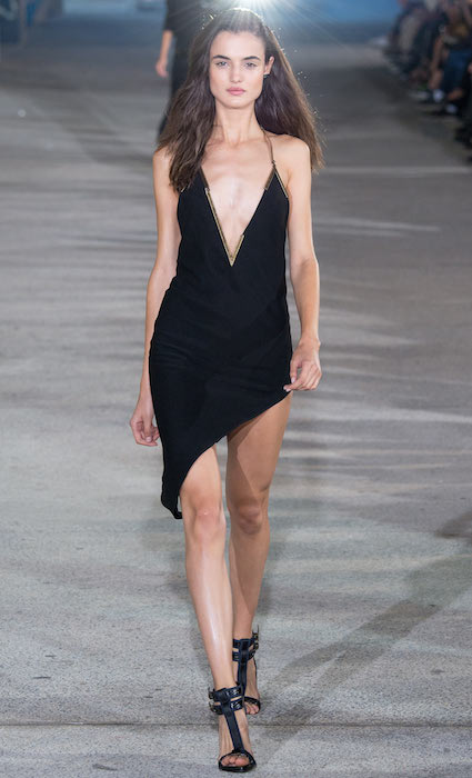 Blanca Padilla during Anthony Vaccarello Spring 2015 Fashion Show (Photography by Yannis Vlamos).
