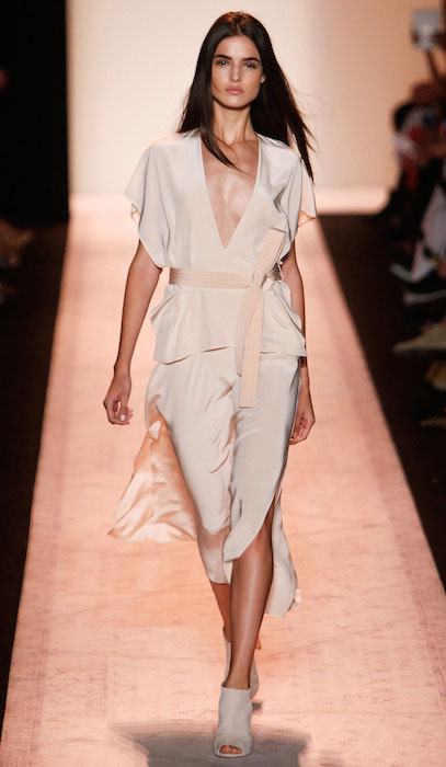 Blanca Padilla during BCBG Max Azria Spring 2015 Fashion Show (Photography by Alessandro Garofalo).