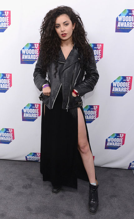 Charli XCX Backstage at the mtvU Woodie Awards.