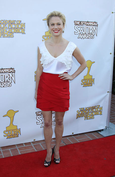 Claire Coffee at the 37th Annual Saturn Awards at The Castaway, Burbank, California on June 23, 2011.