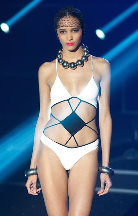 Cora Emmanuel during Etam Live Lingerie Show Paris in 2013.