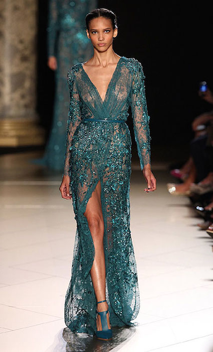 Cora Emmanuel for Elie Saab Haute Couture Autumn / Winter 2012-13 Fashion Show.