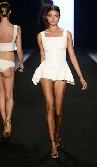 Daniela Braga during a catwalk.