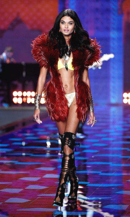 Daniela Braga during Victoria's Secret Fashion Show 2014.