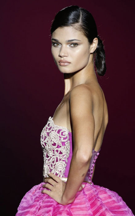 Daniela Braga during a ramp walk
