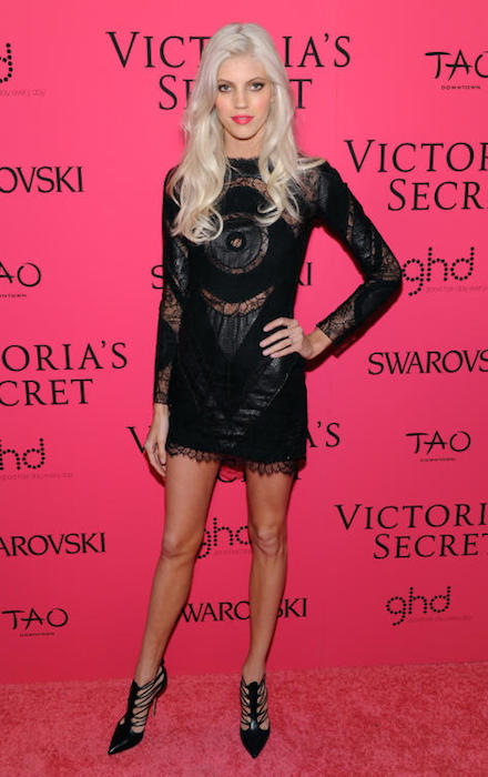 Devon Windsor at Victoria's Secret Fashion Show 2013 After Party.