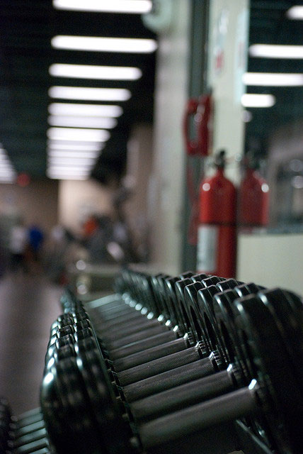 Dumbbells and Weight Loss Supplements