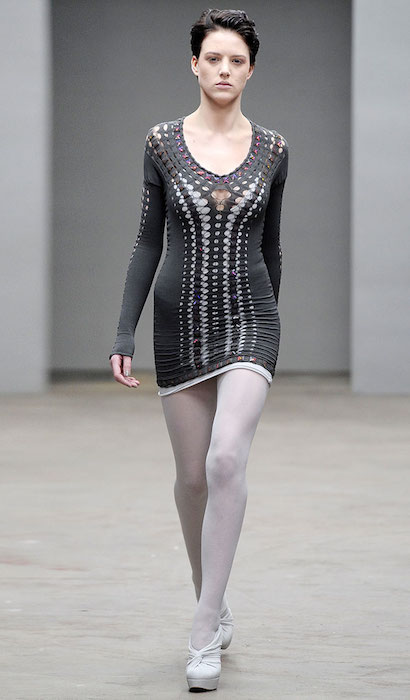 Eliza Cummins at Mark Fast Fall 2010.