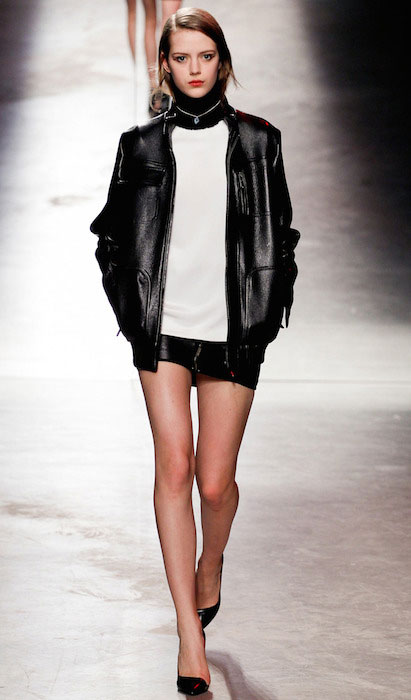 Esther Heesch at Anthony Vaccarello Fall 2014 Fashion Show.