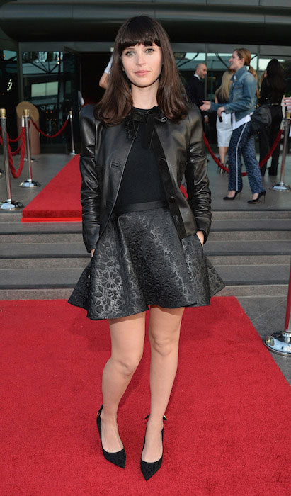 Felicity Jones at the Los Angeles premiere of A24's 'The Bling Ring' at the Directors Guild Theater on June 4.