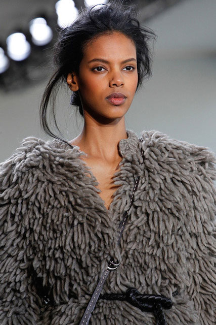 Grace Mahary displaying Michael Kors Fall 2014 Collection.