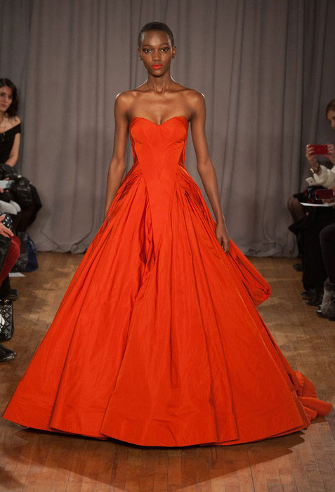 Herieth Paul for Zac Posen Fall 2014 RTW.