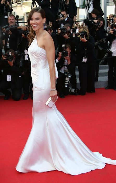 Hilary Swank during Cannes Film Festival 2014.