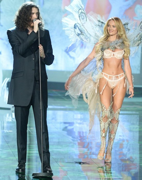 Vs Fashion Show 2015 Hozier Hozier and VS angel Candice