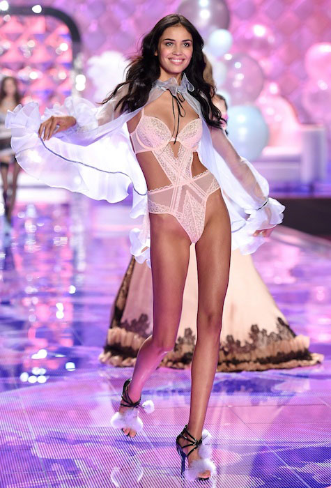 Irina Sharipova during a Victoria's Secret Fashion Show 2014 in London.