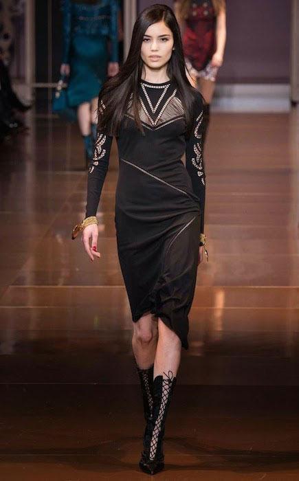 Irina Sharipova for Versace Fall / Winter 2014 Collection.
