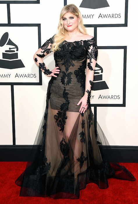 Meghan Trainor during 2015 Grammy Awards