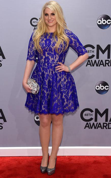 Meghan Trainor at CMA Awards 2014.