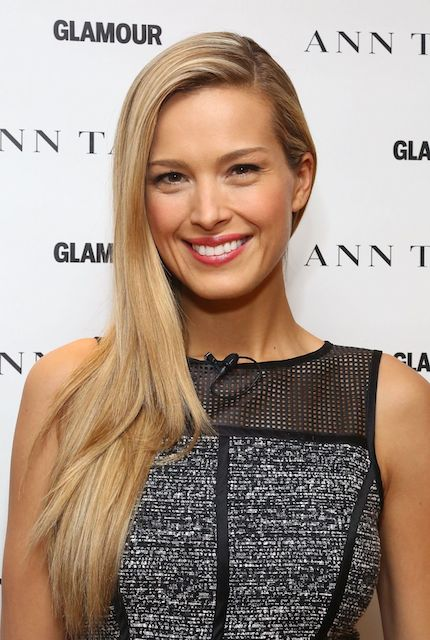 Petra Nemcova at 2014 International Women's Day.