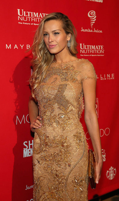 Petra Nemcova during 2014 Shape & Men's Fitness Super Bowl Party.