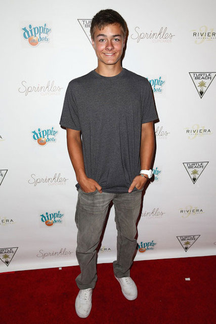 Peyton Meyer during Blake Michael's 18th Birthday at Riviera 31 on August 9, 2014.