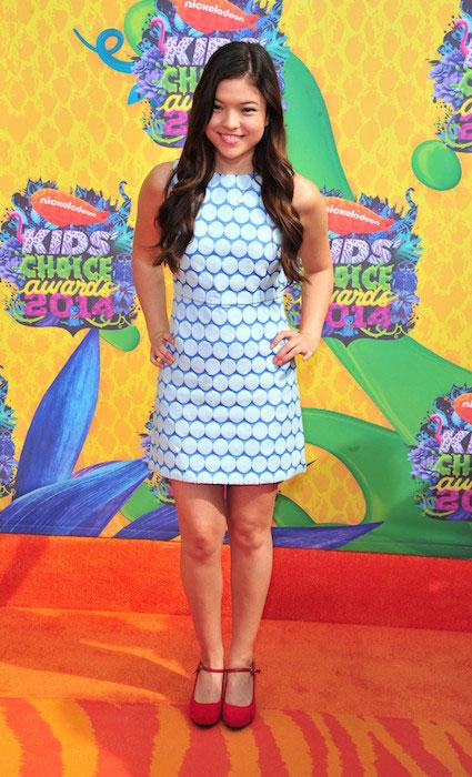 Piper Curda at Nickelodeon's 27th Annual Kids Choice Awards 2014.