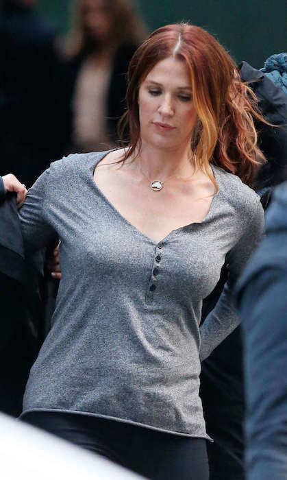 "Poppy Montgomery from the set of ""Unforgettable""."