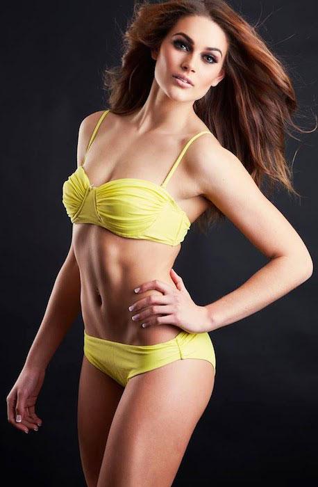 Rolene Strauss during a bikini photoshoot.