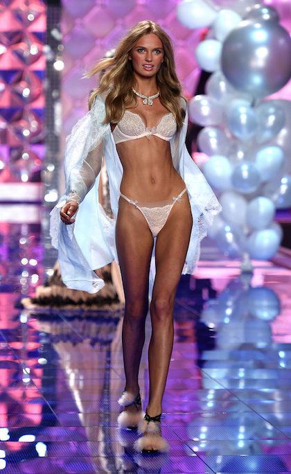 Romee Strijd during Victoria's Secret Fashion Show 2014.