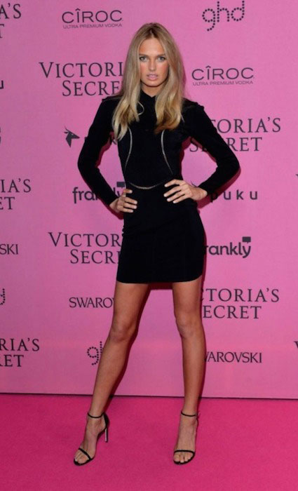 Romee Strijd during Victorias Secret 2014 After Party.