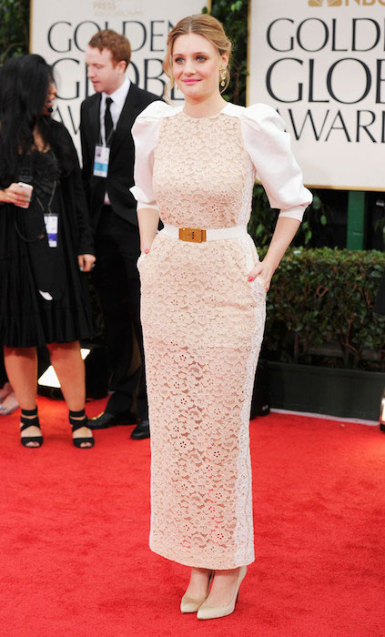 Romola Garai at Golden Globe Awards 2012.