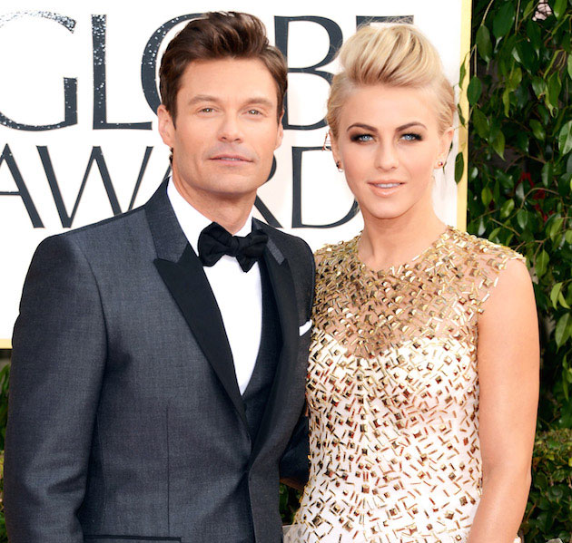 Ryan Seacrest and Julianne Hough.