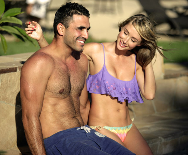 Sara Jean Underwood and Roberto Martinez.