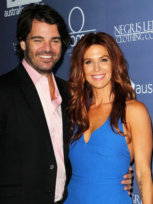 Shawn Sanford and Poppy Montgomery during Australians in Film Awards and Benefit Dinner 2012.