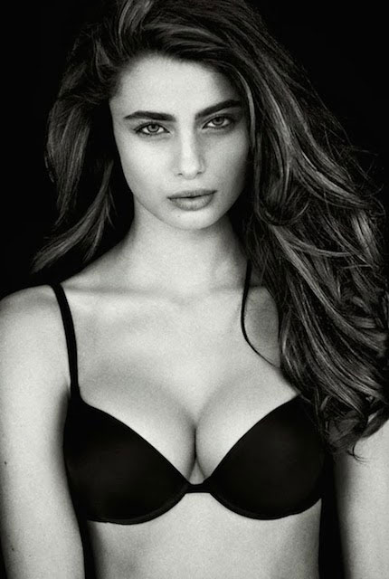 Taylor Hill posing for Intimissimi Lingerie Perfect Bra 2013 photographed by Raphael Mazzucco.