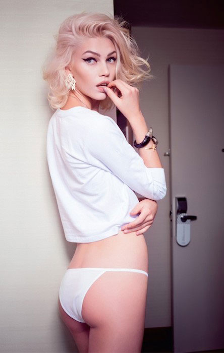 Aline Weber during a photo shoot for GQ Brazil.