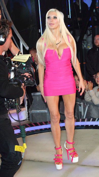 Angelique Morgan entering the house at 2014 'Celebrity Big Brother' UK Launch Night.