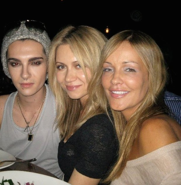 Bill Kaulitz (Left) with Natalie Franz (Middle) and Verina Marcel.